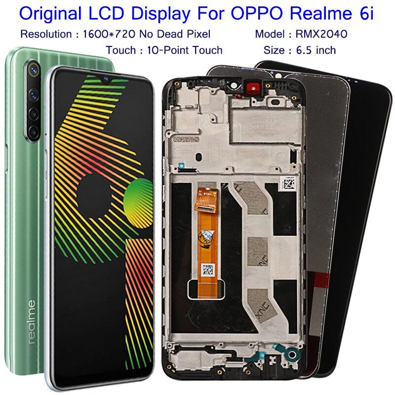 display original para realme 6i 6 i display lcd acessorio da tela de toque montagem