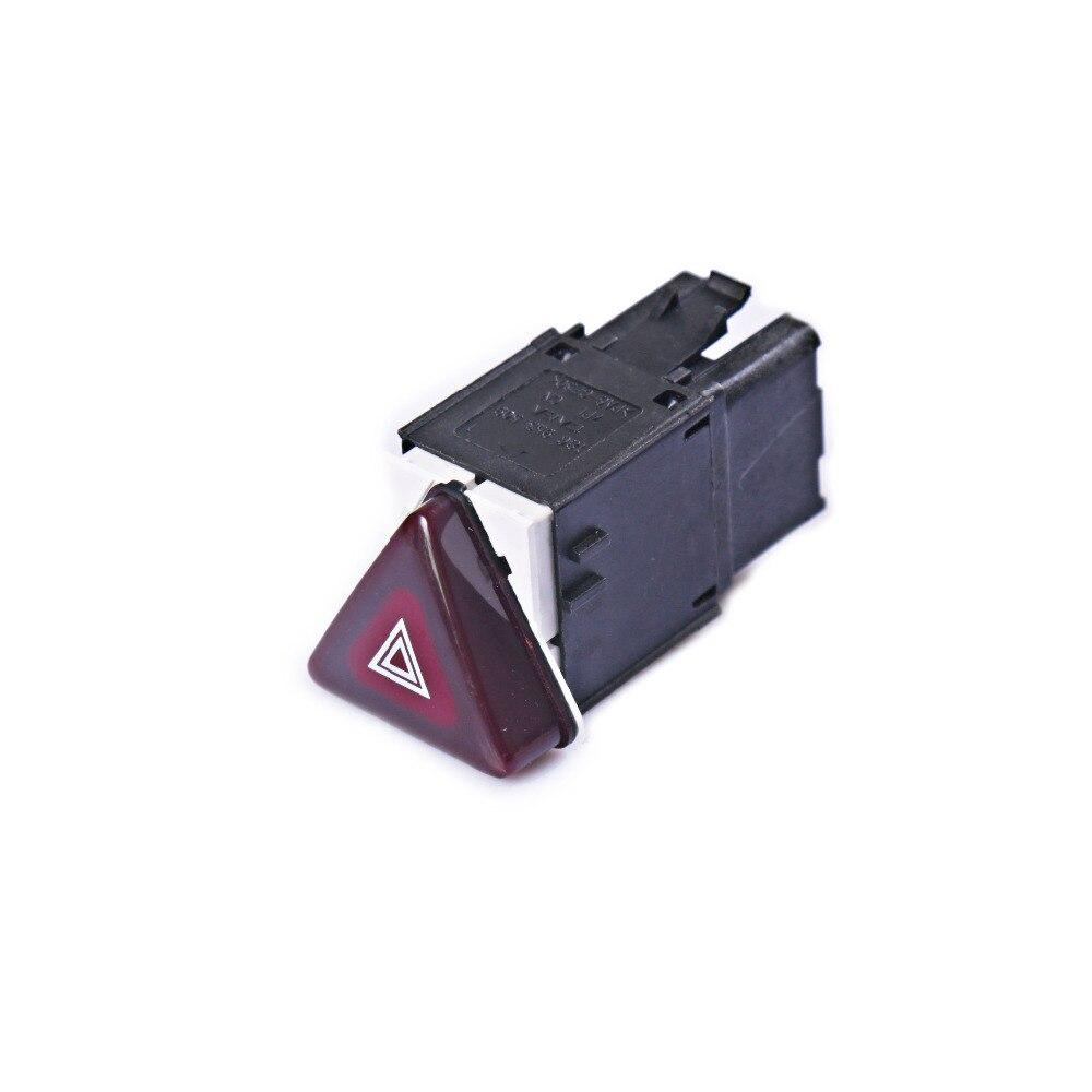 Botón de interruptor intermitente de advertencia de peligro rojo oscuro YCwin para VW Jetta Golf MK5 GTI Rabbit 18G 953 509 / 1K0 953 509 A