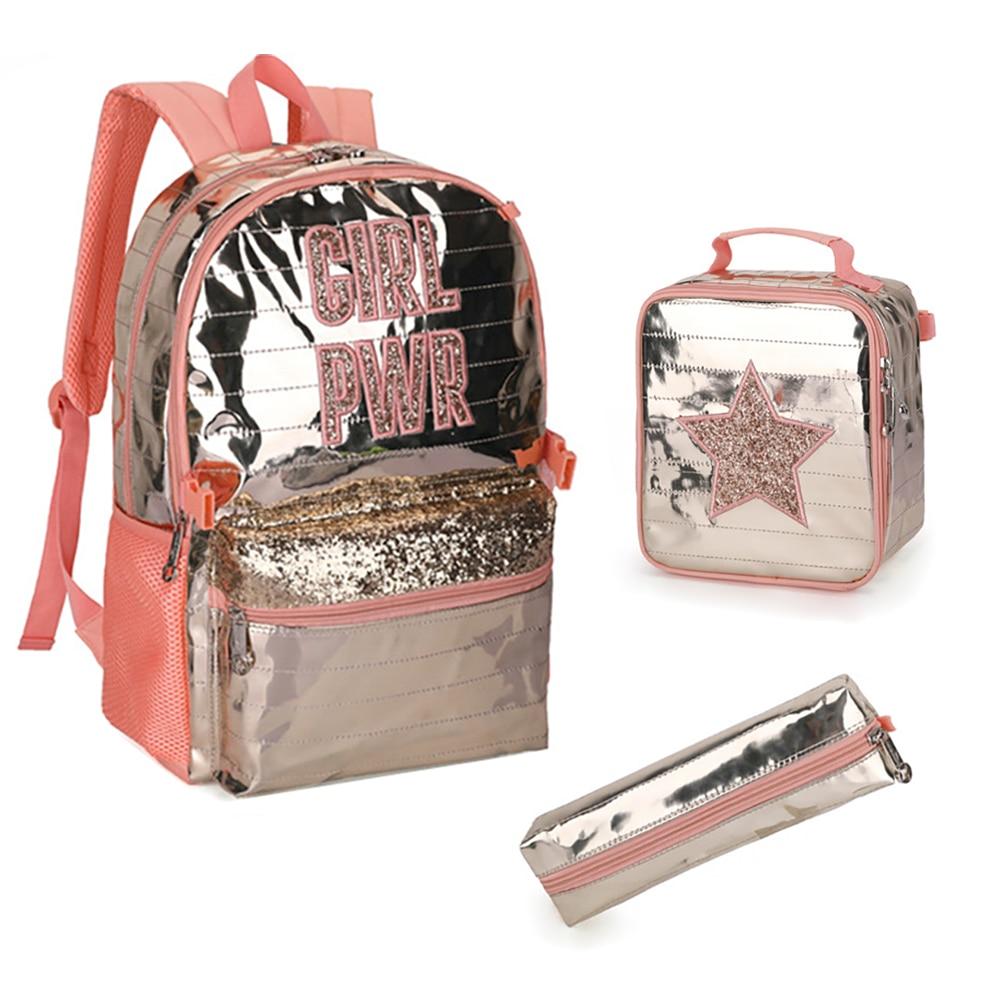 Комплект из трех предметов, рюкзаки для школьников, подростков, девочек, Детский рюкзак, сумки для девочек, школьные сумки для девочек-подро...