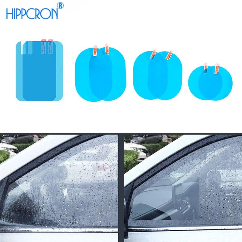 Автомобильное зеркало заднего вида, защитная противотуманная Автомобильная зеркальная прозрачная пленка, пленка, водонепроницаемая автомобильная наклейка 2 шт./компл. Наклейки на автомобиль      АлиЭкспресс