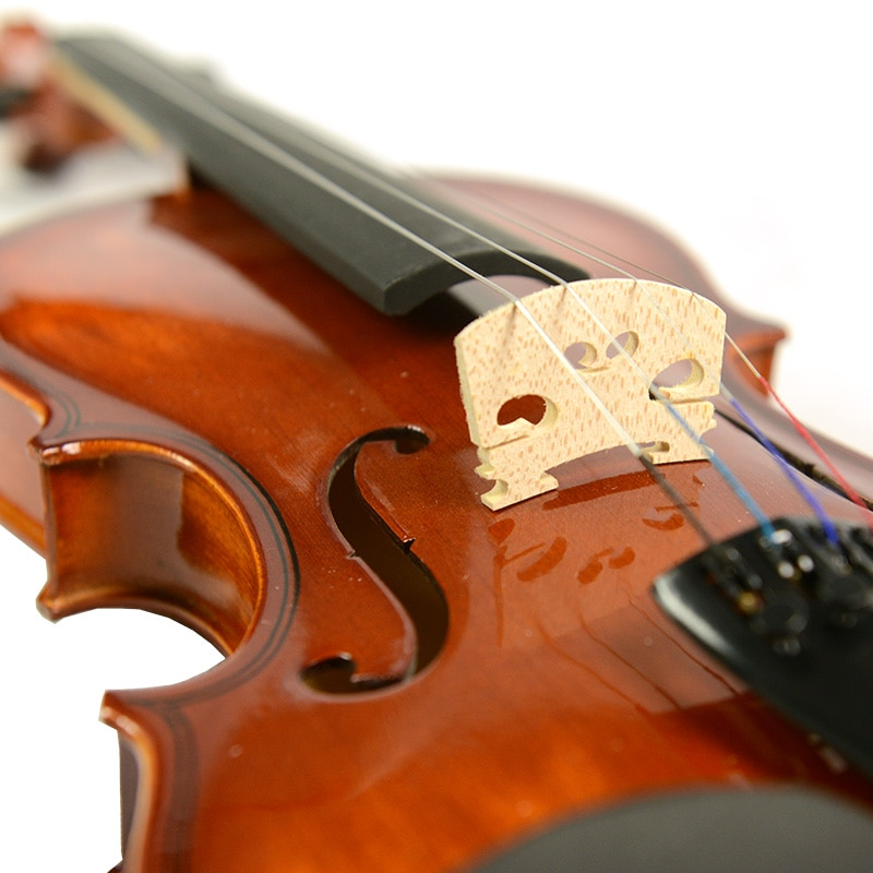 NAOMI Acoustic Violin 4/4 Size Violin Fiddle Vintage Gloss Finishing With Case Bow Rosin SET enlarge