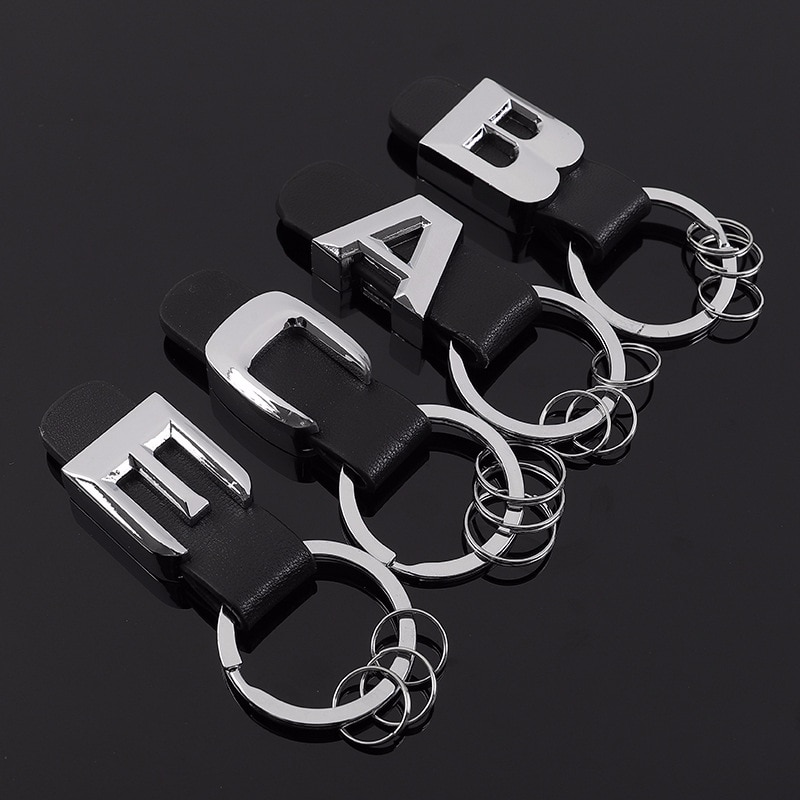 Metall Auto Logo Leder Keychain A B C E Klasse Auto Taille Schmuckstück Leder Schlüssel Kette Auto Keyfob Ringe Schlüsselhalter mann Auto Schlüssel