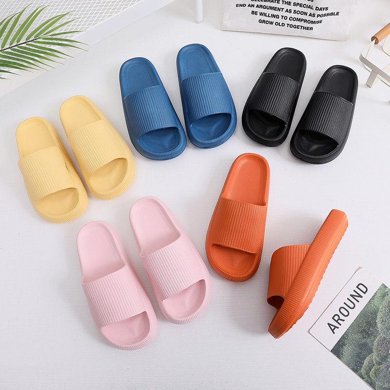 Women Thick Platform Slippers Indoor Bathroom Slipper Soft Eva Anti-Slip Couples Home Floor Slides Ladies Summer Shoes