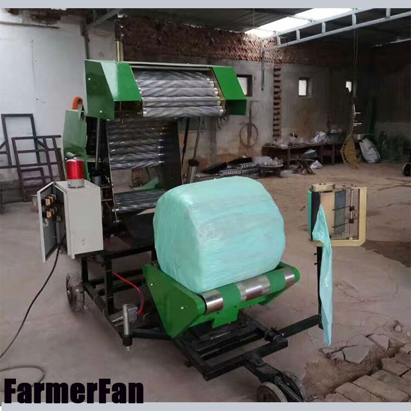 Factory sales agricultural silage automatic bundling and filming machine corn straw dry and wet dual-purpose baler enlarge