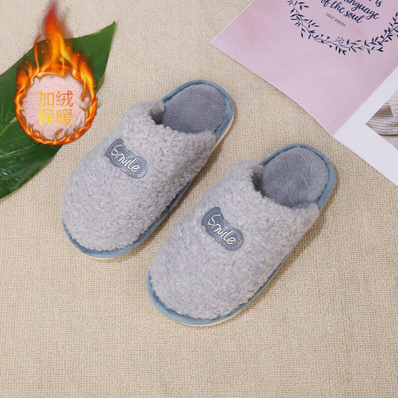 Women Slippers home Cute flower Cotton slippers Winter indoor Non-Slip Warm Soft Floor Furry Slides