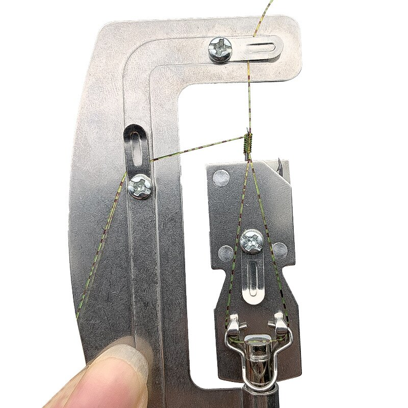 AliExpress - 1pcs 10.3cm 48g Stainless Steel Semi-automatic Fishing Hook Line Knotter Tier Machine Portable Fishing Tackle Accessories