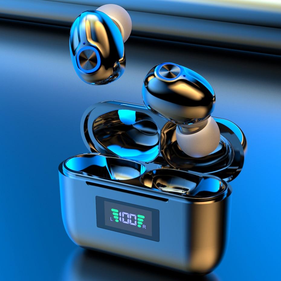 Фото - Bluetooth Wireless Headphones with Mic Sports Waterproof TWS Bluetooth Earphones key Control Wireless Headsets Earbuds Phone bluetooth headset wireless sports headphones tws bluetooth 5 0 earphones ear hook running stereo earbuds with mic waterproof