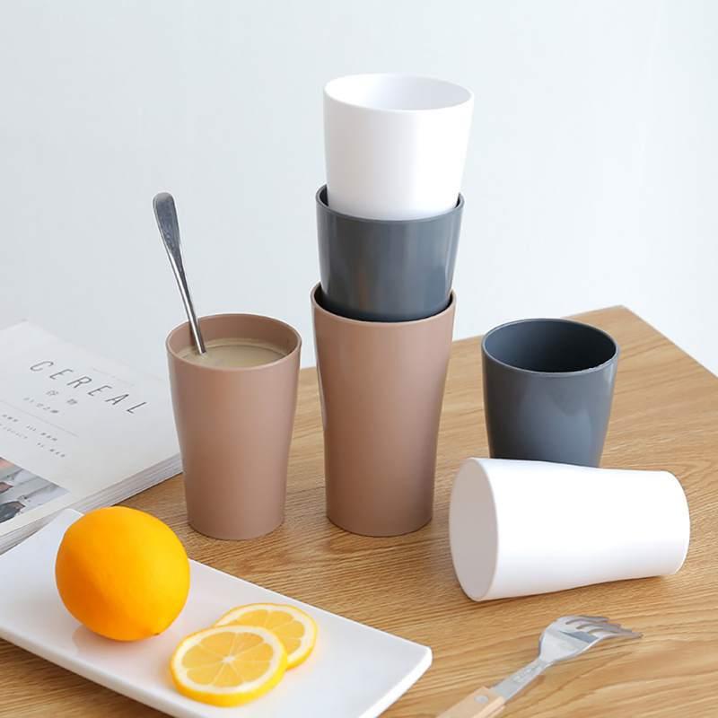 Taza de Color sólido nórdico Simple de moda de estilo japonés taza de enjuague bucal, Blanco/gris/taza de café portátil al aire libre