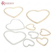 50 Stuks 9X9Mm 13X14Mm 19X21Mm Goud Kleur Messing Hartvorm Gesloten ringen Sluit Ringen Diy Sieraden Bevindingen Accessoires Groothandel