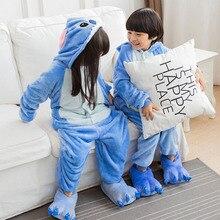 Children Stitch Pajama Kid Boy Girl Anime Overall Tiger Pijama Onesie Onepiece Baby Animal Sleepwear Cosplay
