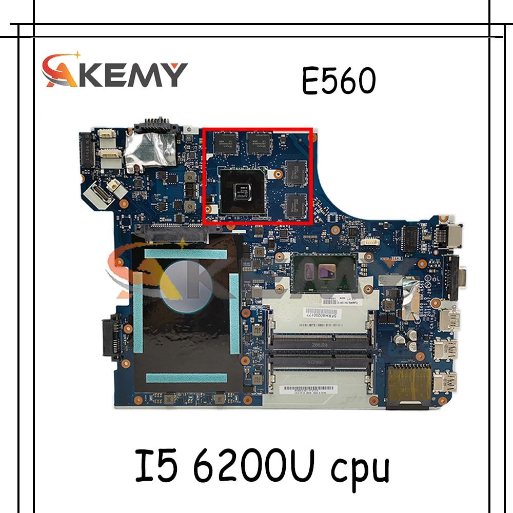 Akemy BE560 NM-A561 لينوفو ثينك باد E560 اللوحة المحمول 01AW109 01AW106 01AW108 01EN110 CPU I5 6200U 100% اختبار العمل