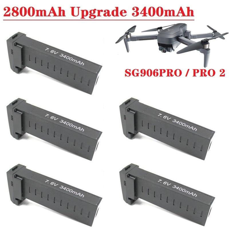 Original Battery for SG906 Pro 2 Pro2 X7 Pro Drone 7.4V 2800MAH / 7.6V 3400MAH Lipo battery accessories SG906Pro Drones Battery
