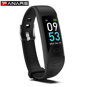 PANARS Smart Watch Wristband Fitness Blood Pressure Heart Rate Android Pedometer IP68 Waterproof Sports Black Smart Watch Band