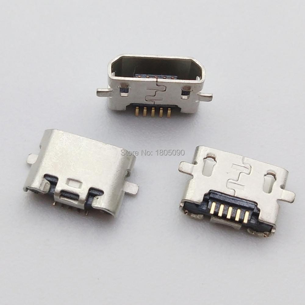 100 шт. для Motorola G2 huawei Y6 P8 C8817 max Lite 4C 3X Pro G750-T20 Micro USB SMD DIP разъем для зарядки