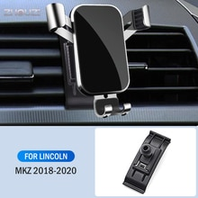 Car Mobile Phone Holder For Lincoln MKZ 2018 2019 2020 Air Vent Mounts Stand GPS Gravity Navigation Bracket Car Accessories