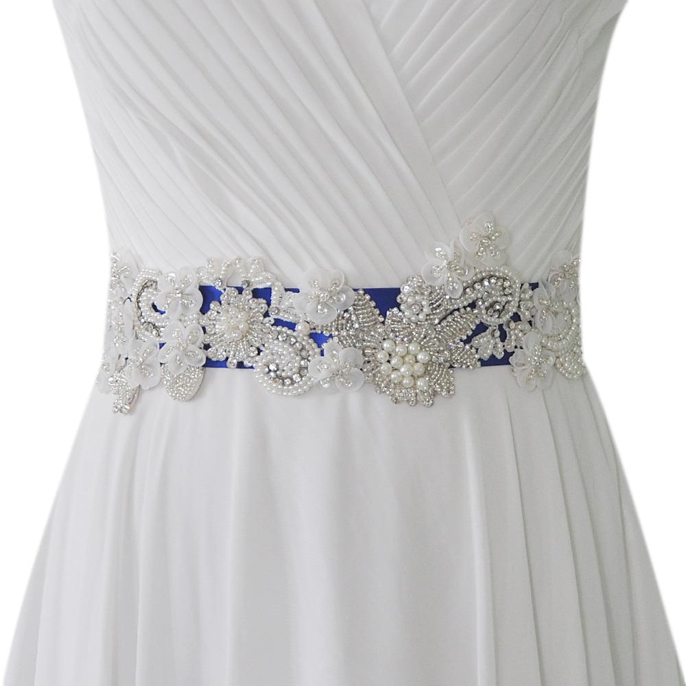 S331 حزام زفاف مطرز بالكريستال ، إكسسوارات كرة ، مجوهرات ، بالجملة