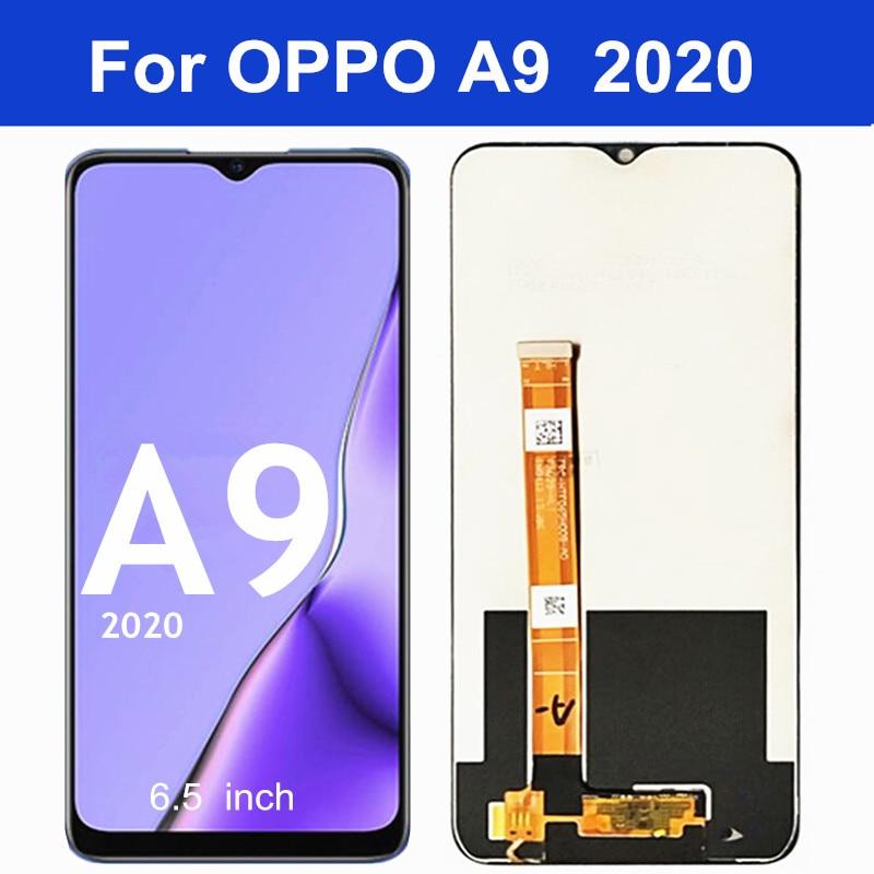 """6,5 """"para OPPO A9 2020 pantalla LCD Digitalizador de Panel táctil asamblea para OPPO A9 2020 CPH1937 CPH1939 CPH1941LCD"""