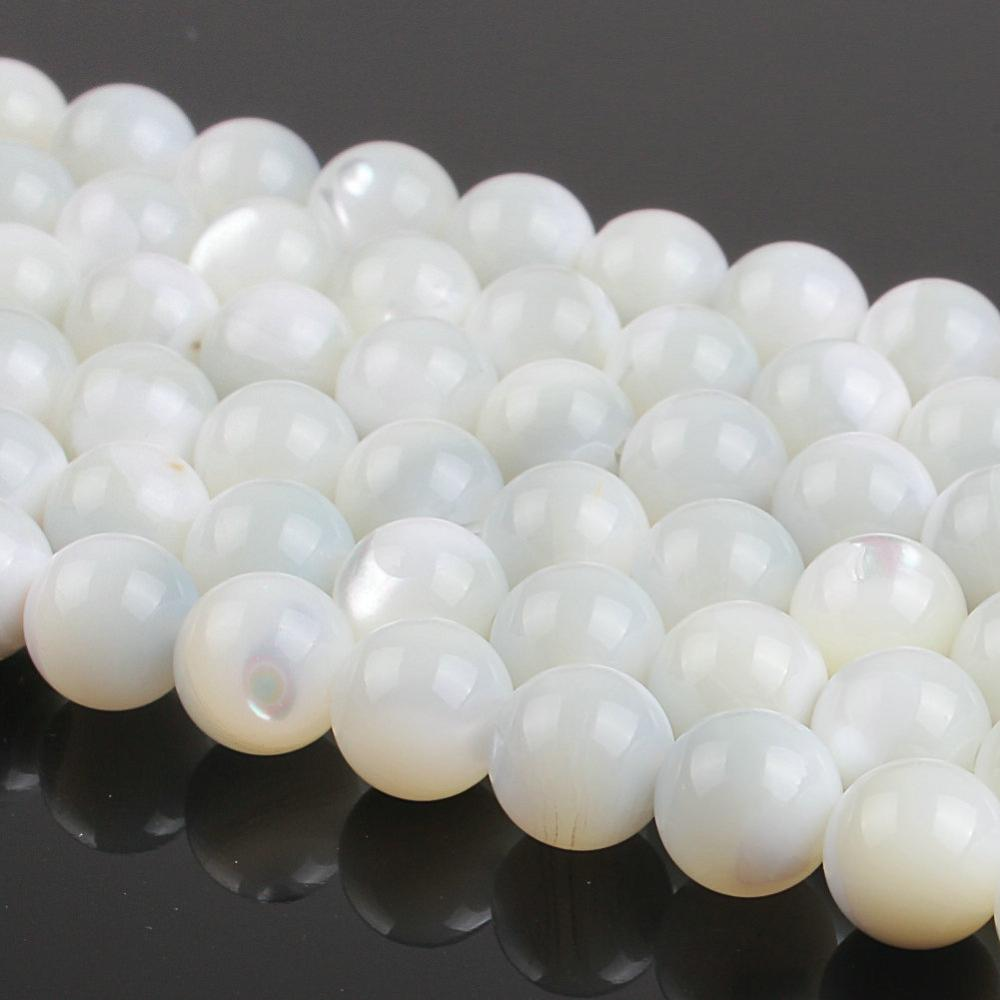 4mm 6mm 8mm 10mm mixed color round crackle glass beads loose spacer beads for jewelry making diy bracelet necklace Natural Round White Shell Loose Beads 6mm 8mm 10mm For Necklace Bracelet DIY Jewelry Making 15inch Strand