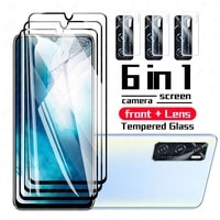 for vivo v20 se case armor shockproof soft camera lens tempered glass for vivo y31 y51 y70 y72 5g y20 y30 v20 pro v20se cover