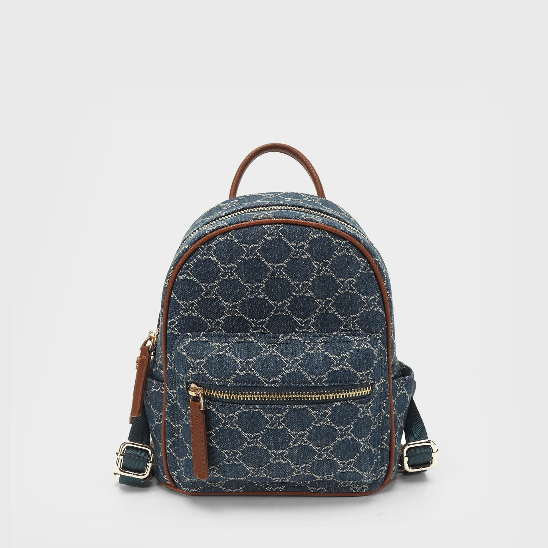 Canvas Backpack Female Summer 2021 New ins Super Fire Wild Mini Fashion Trend Small Backpack Jacquard Fabric Leisure Travel