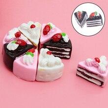 10/2 Pcs Leuke Kawaii Plat Diy Miniatuur Kunstmatige Nep Voedsel Cake Resin Cabochon Decoratieve Craft Speel Pop huis Speelgoed