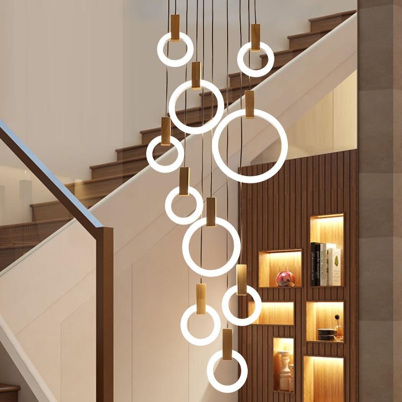 مصباح سقف LED أسود حديث ، تصميم جديد ، إضاءة داخلية ، مصباح سقف مزخرف ، مثالي للفيلا ، السلالم ، الردهة ، السلالم ، إلخ.