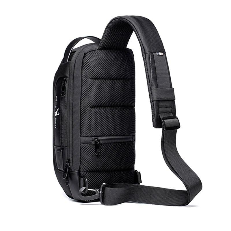 New Multifunction Crossbody Bag for Men Anti-theft Shoulder Messenger Bags Male Waterproof Short Trip Chest Bag Male Bag