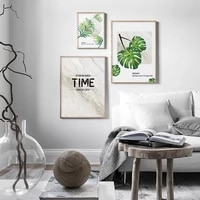 nordic modern simple leaves letter poster canvas botanical print painting wall art pictures for living room bedroom home decor