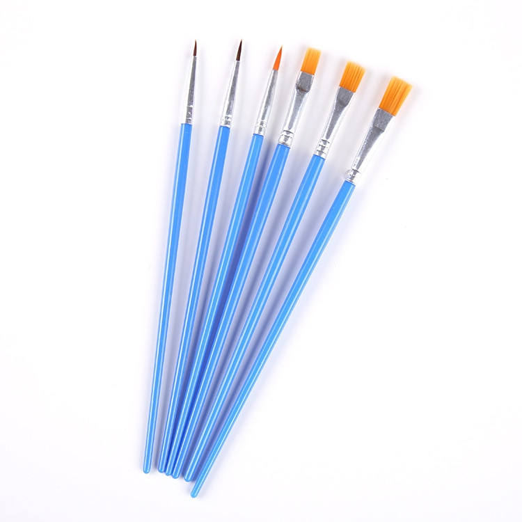 10Pcs/bag Watercolor Gouache Paint Brushes Different Shape Round Pointed Tip Nylon Hair Painting Brush Set Art Supplies no box enlarge