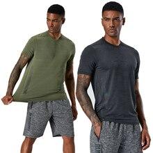 Camiseta para hombre, deportes al aire libre, Maratón activo, pantalón corto para correr, mangas, camisas de entrenamiento de secado rápido, camiseta para gimnasio para hombre