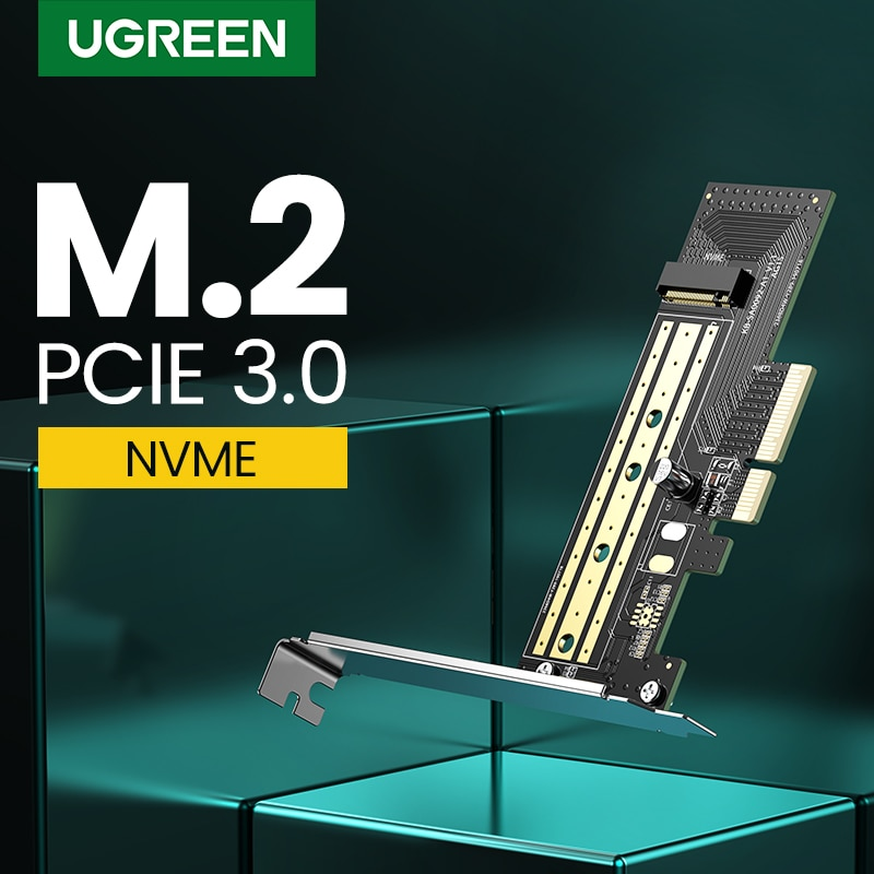 Ugreen PCIE to M2 Adapter NVMe M.2 PCI Express Adapter 32Gbps PCI-E Card x4/8/16 M&B Key SSD Computer Expansion Add On Cards недорого