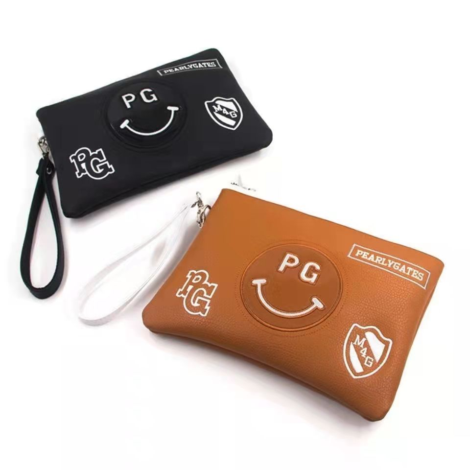 The new PG smiley face golf bag waterproof lightweight pouch for men and women multifunctional fashi