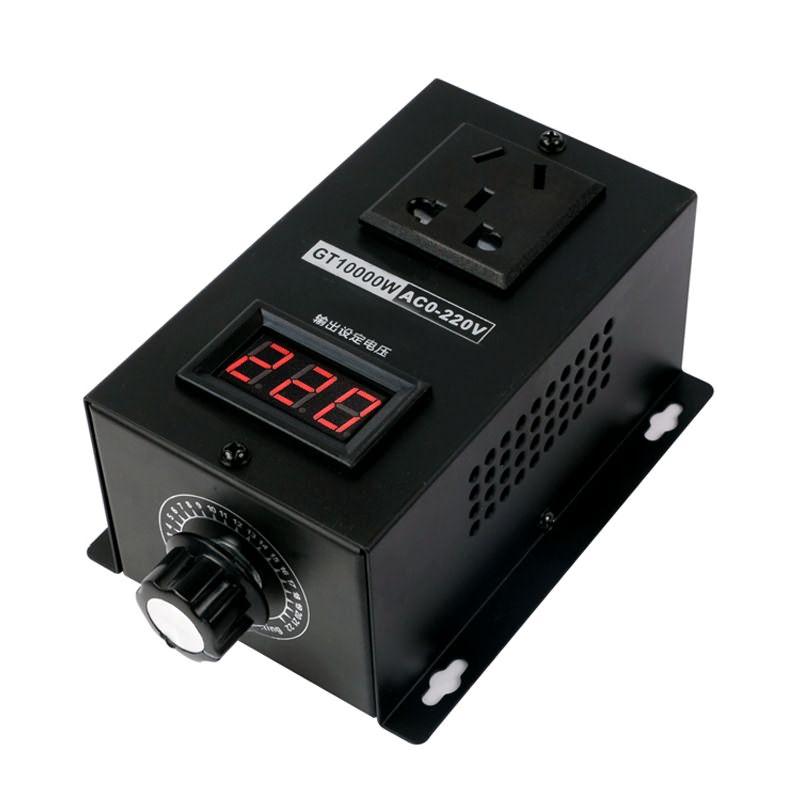 AC 220V 10000W SCR Электронный регулятор напряжения Температура Скорость Регулируемый контроллер регулятор света термостат