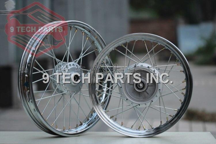 Оригинальный дизайн совершенно новый GN250 спицы колеса передние и задние колеса полный обод размеры 2,50*16 и 2,15*18 диски