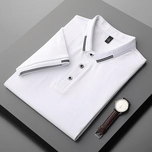 Men T-Shirt  Polo Short Sleeve Shirts Cotton Mens Clothing Top Polos Menswear  Golf Jerseys Hot Sell Smart  Casual Solid Shirt
