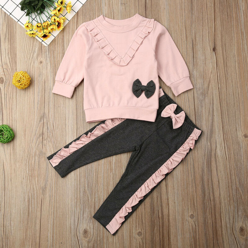 Ropa de Otoño de EE. UU., ropa para niños, bebés, niñas, pantalones, pantalones, ropa de otoño, ropa 6 m-4 T