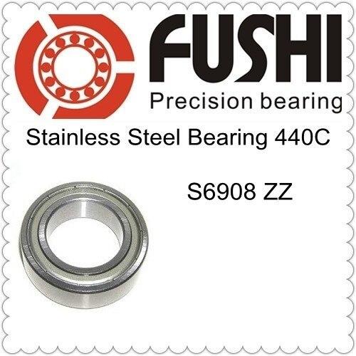 S6908ZZ تحمل 40*62*12 ملم (5 قطعة) ABEC-1 440C S 6908 Z ZZ S6908 الفولاذ المقاوم للصدأ S6908Z الكرات