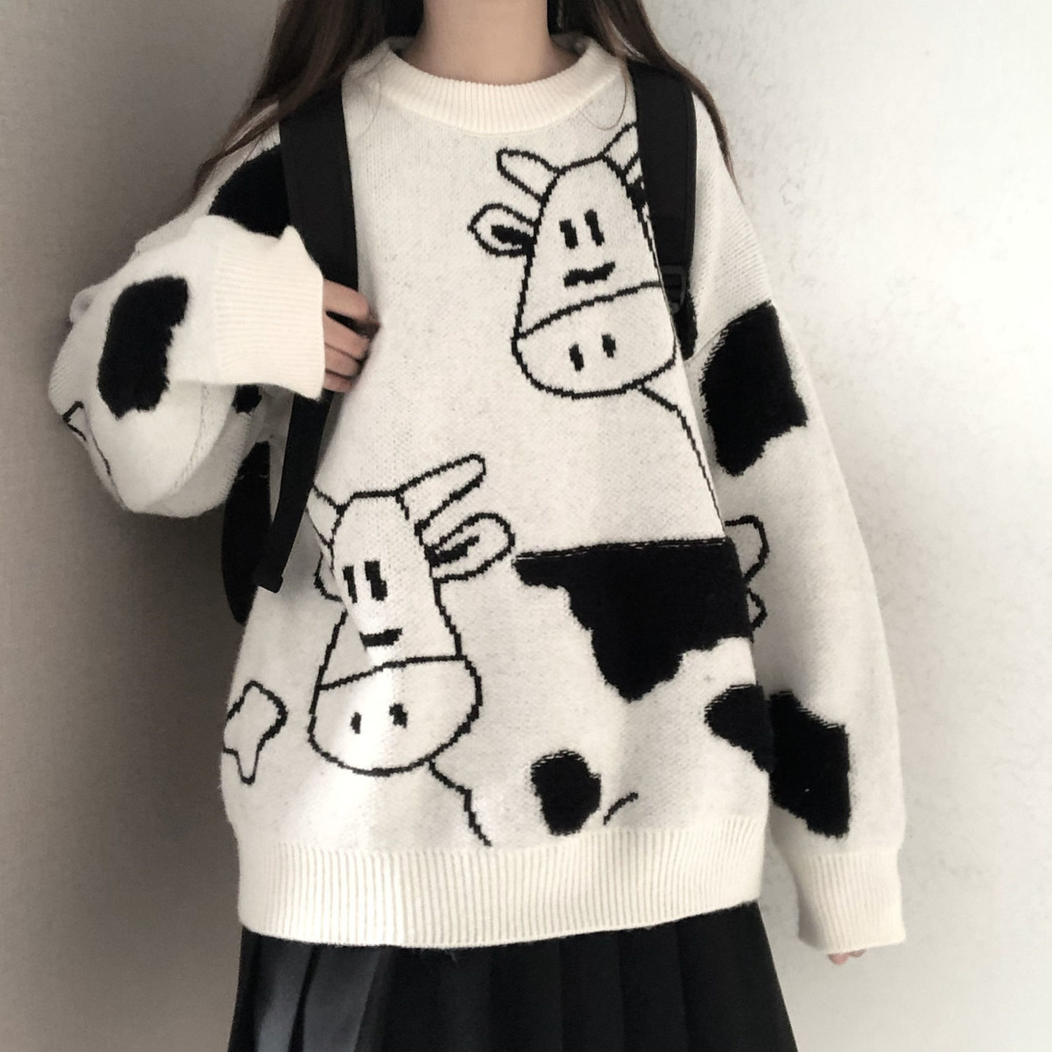 Фото - Sweater pullover autumn and winter new sweet pullover sweater female student Korean version loose wild sweater coat trend 2021 fall winter sweater men thickened korean fashion personality sweater lazy pullover sweater coat