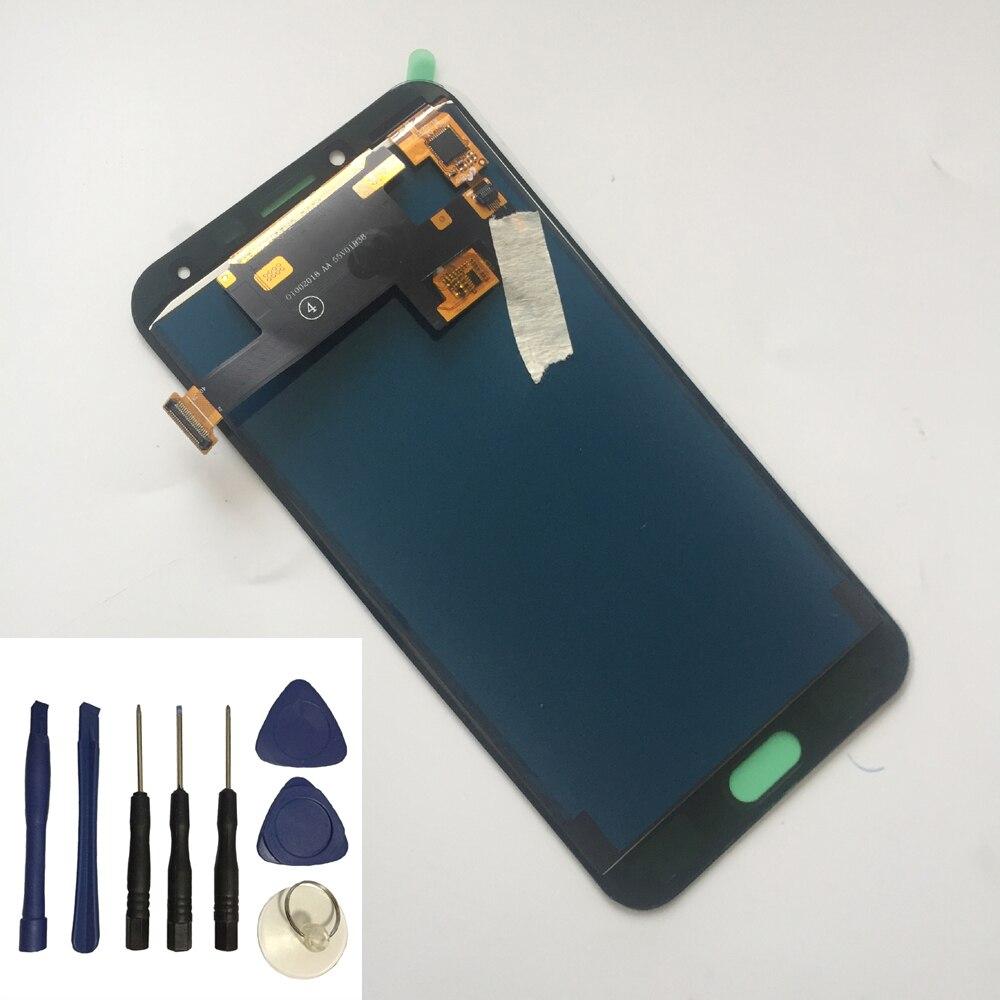 Brillo ajustable para Samsung Galaxy J4 J400 SM-J400F J400H J400G/DS pantalla táctil + pantalla LCD montaje + herramientas gratis