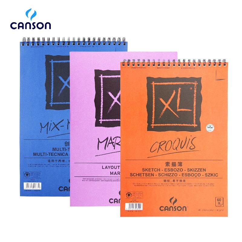 Canson XL Акварельная бумага для черчения книг бумага для рисования акриловая живопись цветной карандаш живопись А4 16 к для художника студента