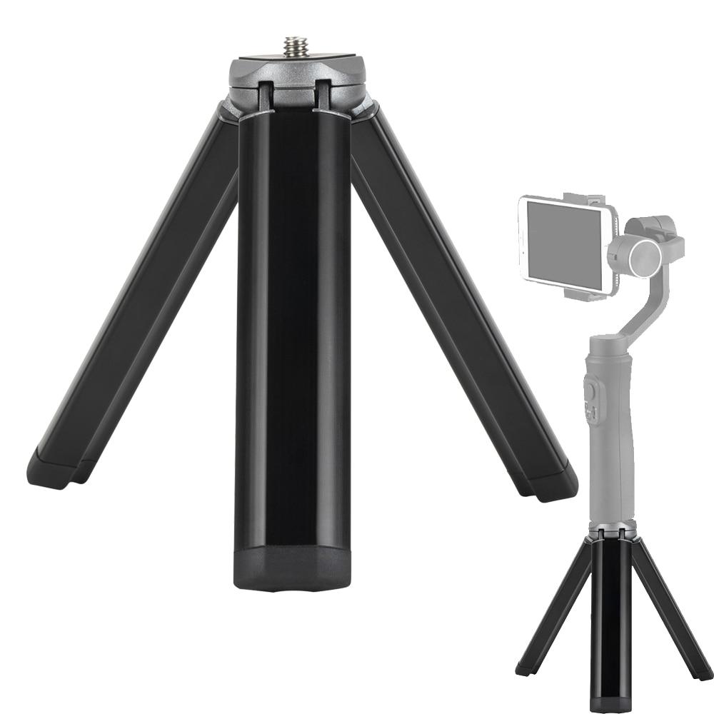 Mini trípode de aleación de aluminio plegable, accesorio de tornillo de 1/4 pulgadas para cámara, cardán, Tripode, camara Profesional, monopié