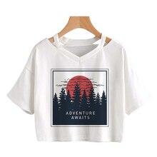 Cosmic belief Harajuku Sommer frauen neue Ernte Tops Mode cartoon gedruckt Vintage Streetwear ins kurzarm casual T-shirt