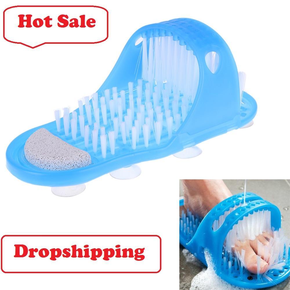 Zapatillas de masaje de pies, ducha de baño, depurador de pies, zapato de baño con cepillo de plástico para eliminar la piel muerta, zapatilla de masaje, herramienta de limpieza de pies