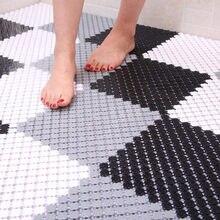 8 pièces amovible bricolage épissure tapis de bain anti-dérapant Massage douche tapis pour couture Puzzle Pad accessoires de salle de bain
