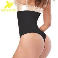 ningmi sexy butt lifter women high waist trainer bodysuit control panties shapewear corrective underwear slim body shapers thong