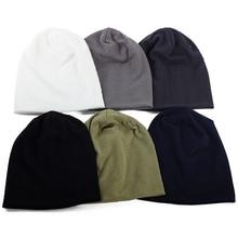 Geebro Geometry Thread Design Woman Men Casual Beanie Hat Cotton Caps Adults Unisex Beanies Outdoor
