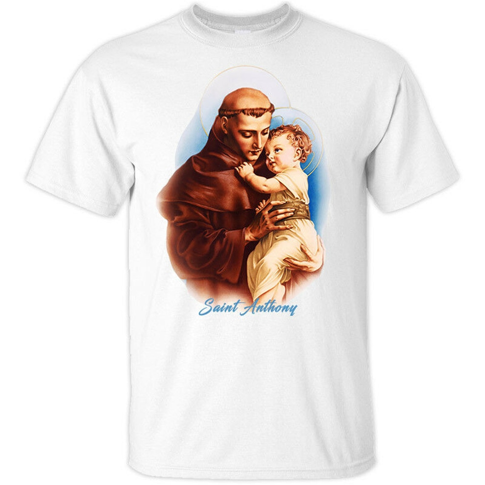 Camiseta de San Antonio de Padua V4 (1195-1231), camiseta blanca, todas las...