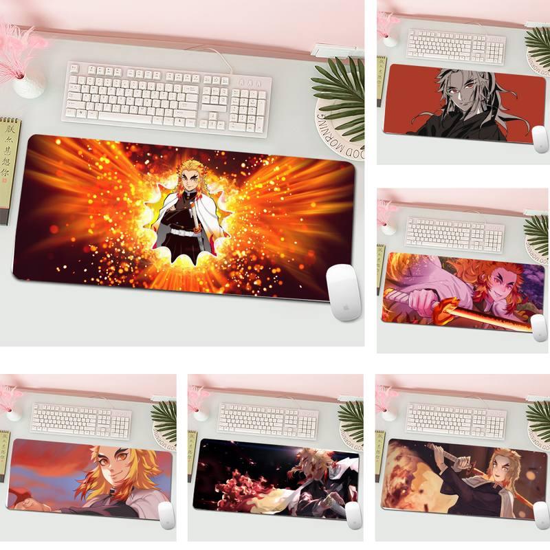 Резиновый коврик для клавиатуры Rengoku Kyoujurou, коврик для мыши, Настольный коврик, игровой коврик для мыши XL, игровой коврик для клавиатуры, наст...
