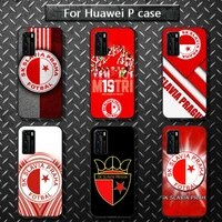 sk slavia praha czech republic phone case for huawei p40 pro lite p8 p9 p10 p20 p30 psmart 2019 2017 2018