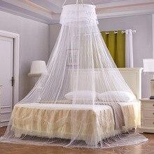 Multicolore romantique dôme rond moustiquaire chambre rideau rond lit auvent princesse Mossquarr ronde moustiquaire